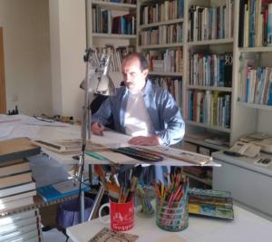 Daniel Torres en su estudio